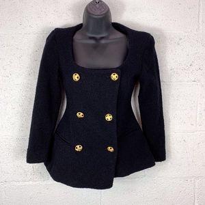 Donna Karan New York Black Double Breasted Jacket